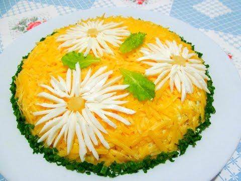 Вкусно - #САЛАТ с Курицей и Ананасами #Рецепты Салатов.