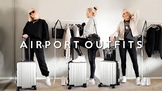 AIRPORT OUTFIT IDEAS! COZY + CUTE TRAVEL LOOKS 2019