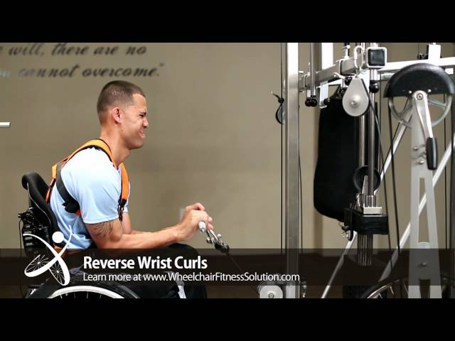 Wheelchair Fitness Solution | Exercise: Reverse Wrist Curls (21 of 40)