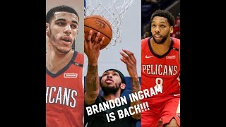 Lonzo Ball improving, Brandon Ingram is back!! New Orleans Pelicans update!!