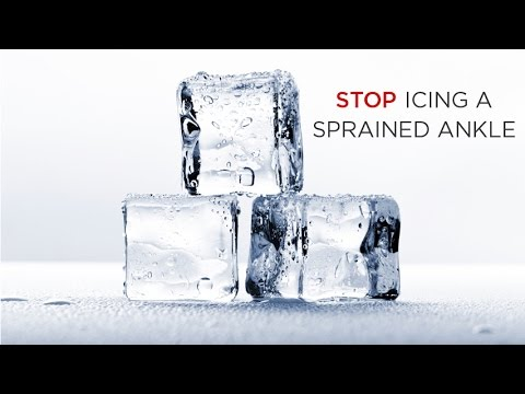 Video Do Not Ice a Sprained Ankle : Here's why...