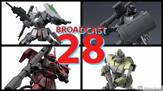 Broadcast 28 - Gunpla News, Cherudim, Zaku, Johnny RIden, GM Sniper, Top Builds, Updates