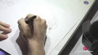 vidéo Naoshi ARAKAWA - Dessin live
