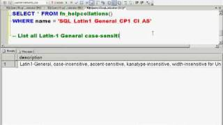 The WHERE Clause: Case Sensitivity and Collations