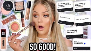 I TRIED YOUR DRUGSTORE MAKEUP FAVORITES | KELLY STRACK