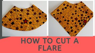 How to cut  a flare| full circle peplum tutorial #semiflare #720flare #easypattern