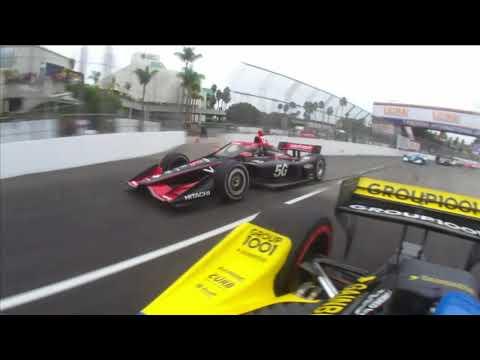 インディーカー第16戦 ロングビーチ 決勝レース スタート直後のオンボード動画