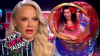 BEST HULA HOOP Acts Make JUDGES HEAD'S SPIN!
