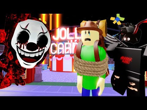 JOLLY'S CARNIVAL SECRET ENDING + NORMAL ENDING WITH CAMPING BALDI | Roblox Camping
