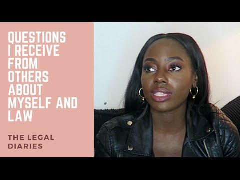 Questions I receive from others about myself and law | The legal diaries