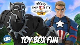 Avengers Infinity War Disney Infinity Toy Box Fun Gameplay Part 6 Black Panther And Captain America