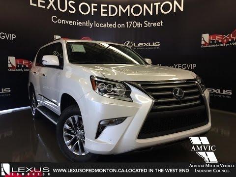 2016 White Lexus GX 460 4WD Executive Walkaround Review | Downtown Edmonton Alberta