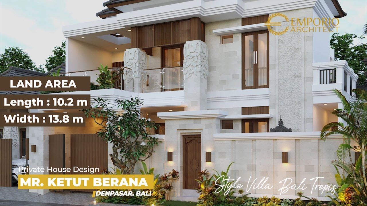 Video 3D Desain Rumah Villa Bali 2 Lantai Bapak Ketut Berana di Denpasar, Bali