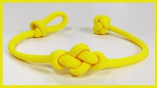 How To Make An Eternity Knot Friendship Paracord Bracelet Single Strand Loop And Knot