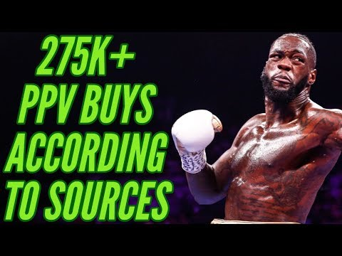 SOURCES: 275K+ BUYS FOR DEONTAY WILDER v LUIS ORTIZ PPV