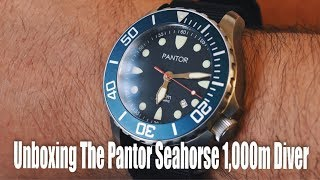 Unboxing The Pantor Seahorse 1,000m Diver!