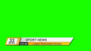 【Lower Third 】Video backgrounds Green Screen HD - Footage CGI VisualFX | Part 164