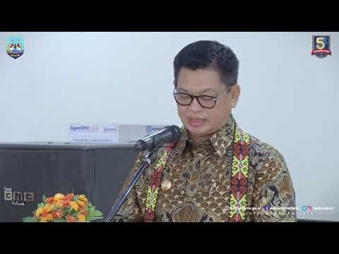 Meresmikan Gedung BRI (Bank Rakyat Indonesia) Cabang Tanjung Selor