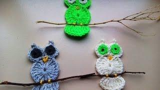 Crochet Owl Apllique