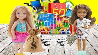 За покупками с одноклассниками! Неверояных поход в магазин! Мультик Барби