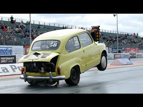 Extreme Fiat 600 Drag Strip Rollover Crash Shows Why You