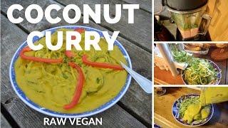Raw Vegan Coconut Curry Recipe