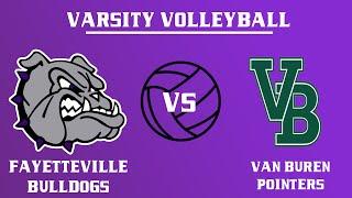 Varsity Girls Volleyball l Van Buren @ Fayetteville