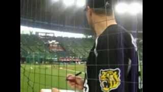 2012年6月13日西武VS阪神スタンリッジサイン試合前