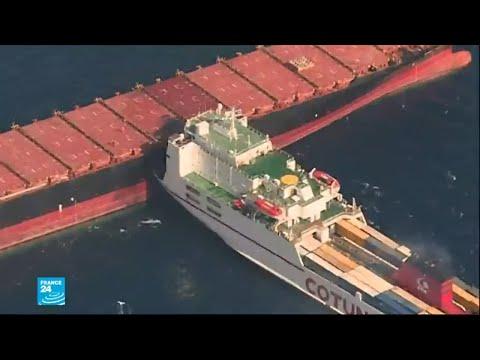 العرب اليوم - تسرّب وقود في البحر المتوسط إثر حادث تصادم بين سفينتين