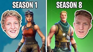 Tfue SEASON 1 vs SEASON 8 (Evolution of Tfue)