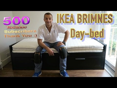 IKEA BRIMNES extendable Day bed frame with 2 drawers assembly