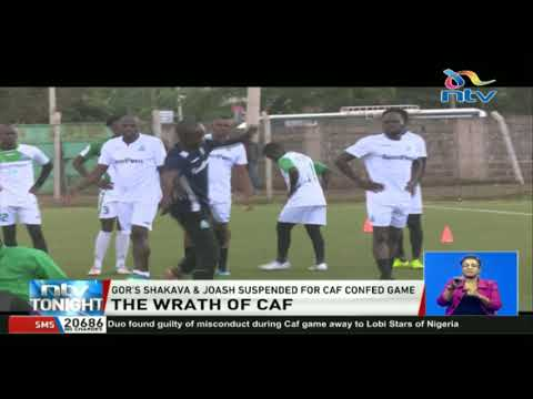 Gor's Shakava and Joash Onyango suspended for CAF confederation game