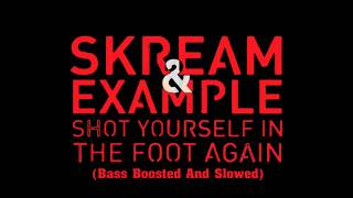 Skream & Example - Shot Yourself In The Foot Again (Bass Boosted And Slowed)