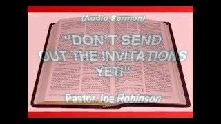 Pastor Joe Robinson Audio Sermon