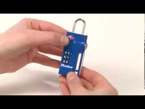 Screen capture of Operating the Master Lock 4693D TSA-Accepted Combination Luggage Lock