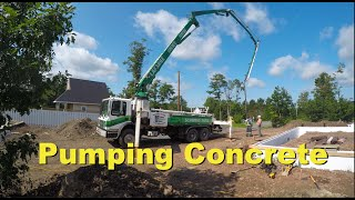 Using a Pumper Truck to Pour Concrete a Slab