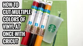 How To Cut Multiple Colors of Vinyl at Once with Cricut