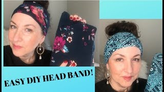 DIY Head Band From Walmart Leggings - Easy No Sewing!