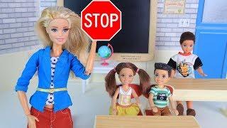 ПЕРЕСАДИТЬ НЕЛЬЗЯ ОСТАВИТЬ! Мультик #Барби Школьные Истории Куклы Игрушки для девочек