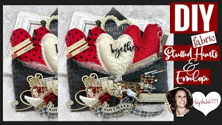 DIY Fabric Stuffed Hearts And Fabric Envelope | DIY Home Decor Craft | DIY Valentines Craft
