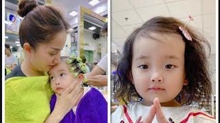 Anna Vương Diễm lần đầu được đi uốn tóc | Anna 23 tháng tuổi