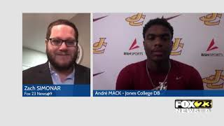 Jones College football player talks about upcoming season