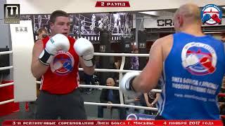 3-е рейтинговые бои Лига бокса г. Москвы – 04.11.17 г. 91+ кг.