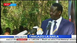 Raila Odinga apologises to the two Journalists who were beaten by NASA supporters