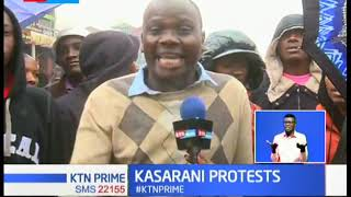 Kasarani residents protests over poor road conditions