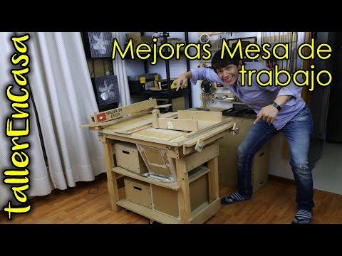 Mesa de trabajo multifuncional / carpintero - Mejoras