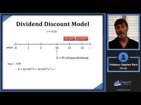 Dividend Discount Model (SOA Exam FM – Financial Mathematics ...