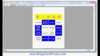 St Andrew's Day Bingo Card Creator - custom bingo cards by BingoCardPrinter.com