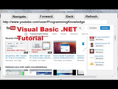 Visual Basic .NET Tutorial 41 – How to use the WebBrowser control in Visual Basic .Net