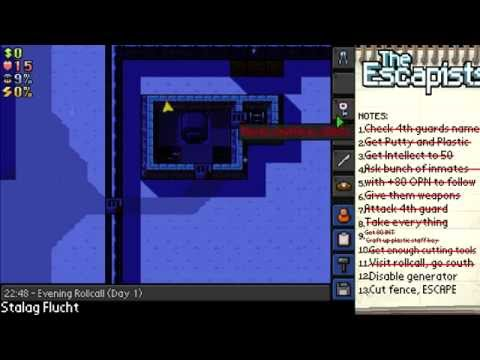 The Escapists | TUTORIAL | Stalag Flucht (1 day escape)